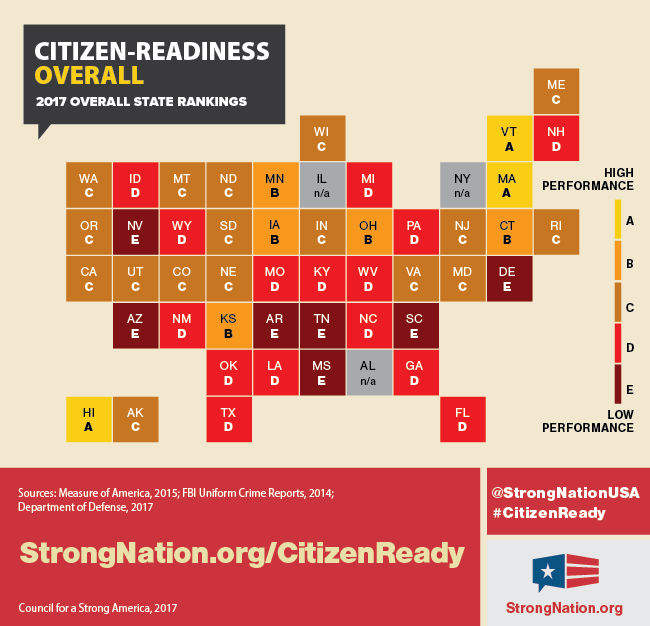 2017 Citizen Readiness Map