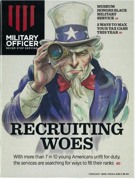 Military Officer magazine cover image